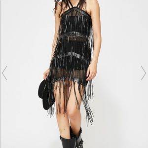 Dolls kill black fringe dress